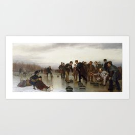 John George Brown - Curling;—a Scottish Game, at Central Park Art Print
