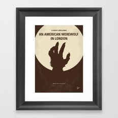 No593 My American werewolf in London minimal movie poster Framed Art Print