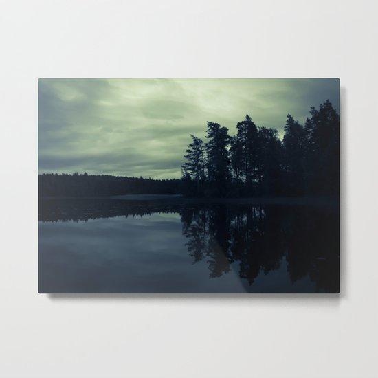 Lake by Night Metal Print