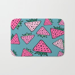strawberry blue Bath Mat
