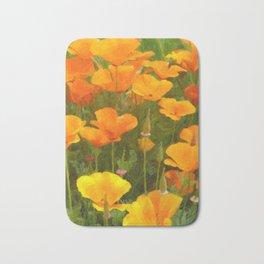 California Poppies Art Bath Mat