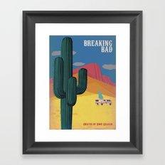 Breaking Bad Vintage style Poster Framed Art Print
