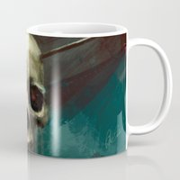 robin hood Mugs featuring Robin by Anne the Viking