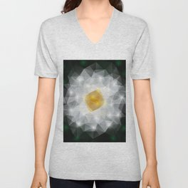 Abstract polygonal flower Unisex V-Neck