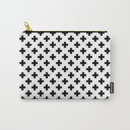 Black Crosses on White Carry-All Pouch