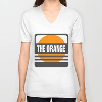 metal gear V-neck T-shirts featuring Metal Gear Solid: The Orange by koukiburra