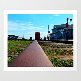 Down the Track and into the Station Art Print