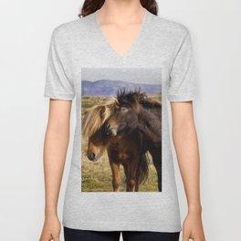 Icelandic Horses Unisex V-Neck