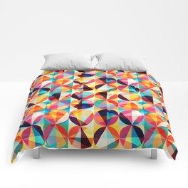 Retro Vintage Geometric Circles Pattern Comforters