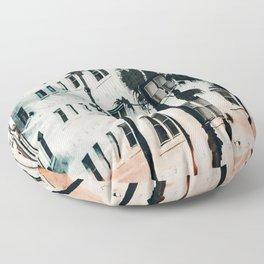palm mural venice ii Floor Pillow