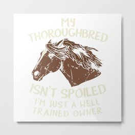 Horse Racing Equestrian Horseback Riding Teacher Metal Print