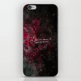 You can do it-red iPhone Skin