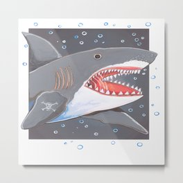 Hark a Shark Metal Print