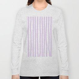Lavender Stripes Long Sleeve T-shirt