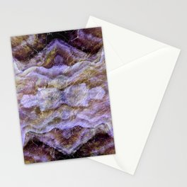 Abstract Mineral Amethyst Crystal Texture Stationery Cards