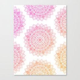 Pink & Orange Mandala Canvas Print