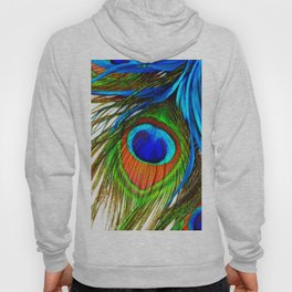 BLUE PEACOCK EYE FEATHER DESIGN Hoody