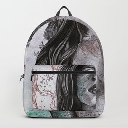Nothing Violates This Nature (erotic drawing, nude butterfly girl) Backpack