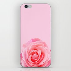 Swirly Petals Pink Rose iPhone & iPod Skin