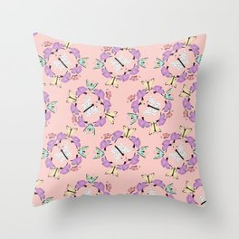 Butterfly Patterns in Pink and Blue and White. Throw Pillow