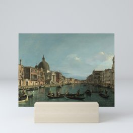 A View of the Grand Canal by Canaletto Mini Art Print