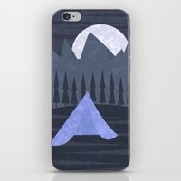 camping iPhone & iPod Skins featuring Camping by Illusorium