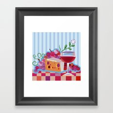 Wine & Cheese Party Framed Art Print