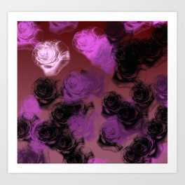 An Illustration of Rose Buds Art Print