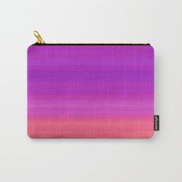Orange & Purple Stripes | Bright gradient pattern Carry-All Pouch