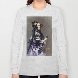 Portrait of Ada Lovelace by Alfred Edward Chalon Long Sleeve T-shirt