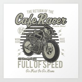 Caferacer Motorcycle Vintage Poster Art Print