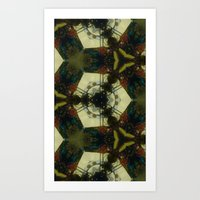 IN BED Art Print