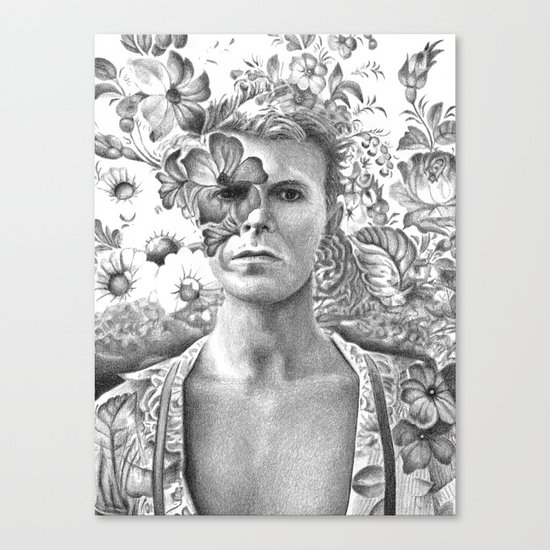 Bowie Goodbye For now Canvas Print