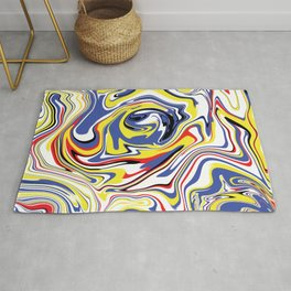 Cool Liquefied Marble Colorful Rug