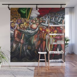 Dictatorship of the Científicos & Porfirio Diaz to the Revolution Portrait by David Alfaro Siqueiros Wall Mural