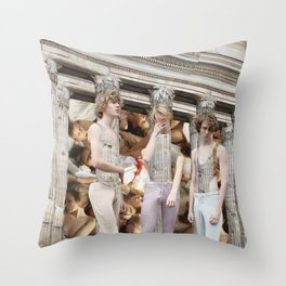 Building Parallels Throw Pillow