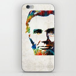 Abraham Lincoln Art - Colorful Abe - By Sharon Cummings iPhone Skin