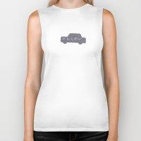 car Biker Tanks featuring Car by sinonelineman