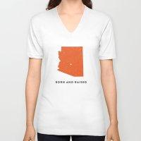 arizona V-neck T-shirts featuring Arizona by Hunter Ellenbarger