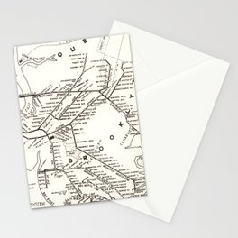 Vintage Brooklyn NY Transit System Map (1912) Stationery Cards