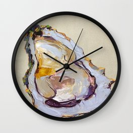 Oyster on a half shell Wall Clock