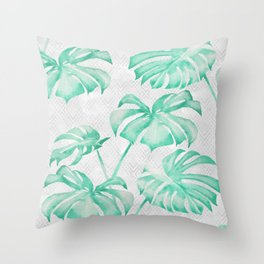 city leaf Throw Pillow