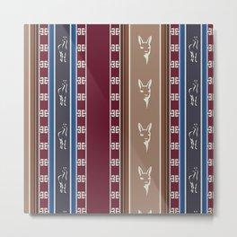 Cute Llama Seamless Pattern Design Metal Print