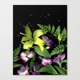 WATERED FLOWERS Canvas Print