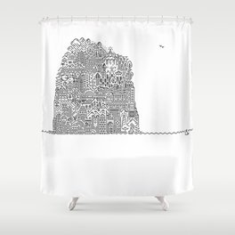 ON AN ISLAND Shower Curtain