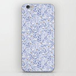 Pastel Purple Ditzy Wild Meadow Floral Print iPhone Skin