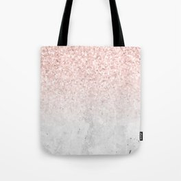 She Sparkles Rose Gold Pink Concrete Luxe Tote Bag