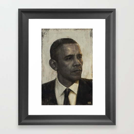 """Golden Age"" - Portrait of President Barack Obama Framed Art Print"