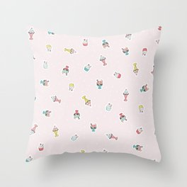 Sundae funday Throw Pillow