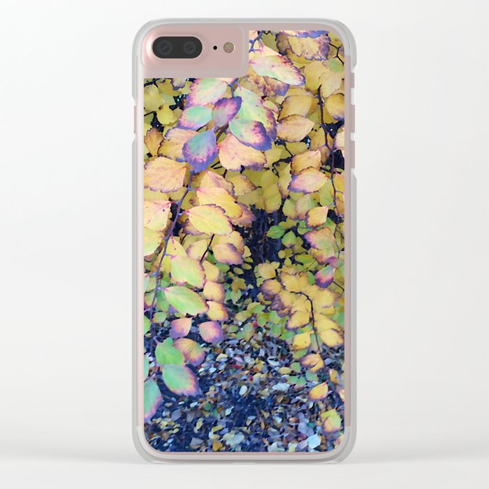 little leaves Clear iPhone Case
